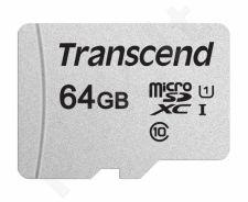 Atminties kortelė Transcend microSDXC USD300S 64GB CL10 UHS-I Up to 95MB/S