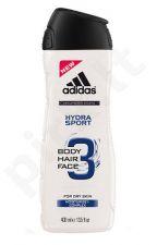 Adidas 3in1 Hydra Sport, dušo želė vyrams, 250ml