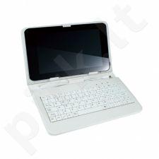 Dėklas su klaviatūra Vakoss 7'' Slim Baltas