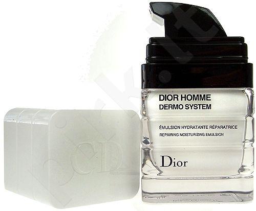 Christian Dior Homme Dermo System, Moisturizing Emulsion, dieninis kremas vyrams, 50ml