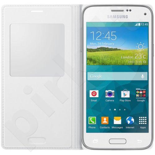 Samsung Galaxy S5mini S view dėklas baltas