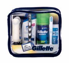 Gillette Travel Kit, Mach3, rinkinys skutimosi peiliukai vyrams, (skutimosi peiliukai + skutimosi putos 75 ml + balzamas po skutimosi 75 ml + šampūnas 90 ml + Toothpaste 15 ml + Toothbrush)