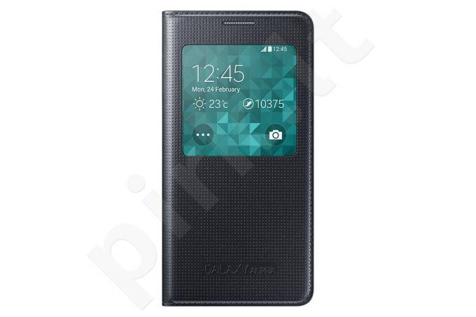 Samsung Galaxy Alpha S view dėklas juodas