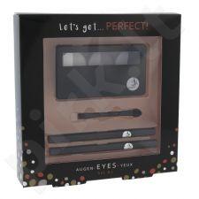2K Let´s Get Perfect! akių šešėliai, rinkinys moterims, (Pallete of akių šešėliai 3 x 2,2 g + Aplikatorius 1vnt + akių kontūrų pieštukas 0,2 g 086 + akių kontūrų pieštukas 0,2 g 087) , (Grey)
