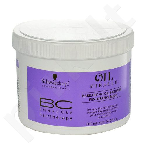 Schwarzkopf BC Bonacure Oil Miracle Barbary Fig & Keratin kaukė, kosmetika moterims, 500ml