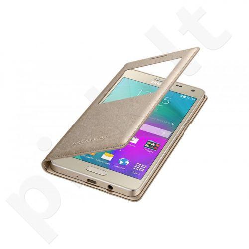 Samsung Galaxy A7 S View dėklas CA700BFE auksinis