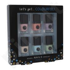 2K Let´s Get Colourful! Pastels nagų lako rinkinys moterims, (nagų lakas 6 x 5 ml)