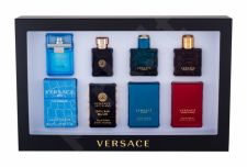 Versace Mini Set 1, rinkinys tualetinis vanduo vyrams, (EDT Eros 5 ml + EDT Dylan Blue 5 ml + EDP Eros Flame 5 ml + EDT Man Eau Fraiche 5 ml)