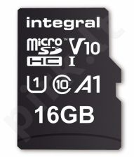 Integral 16GB MICRO SDHC 100V10, Read 100MB/s  U1 V10 + ADAPTER