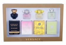 Versace Mini Set 1, rinkinys tualetinis vanduo moterims, (EDT Versense 5 ml + EDT Yellow Diamond 5 ml + EDT Bright Crystal 5 ml + EDP Dylan Blue 5 ml)