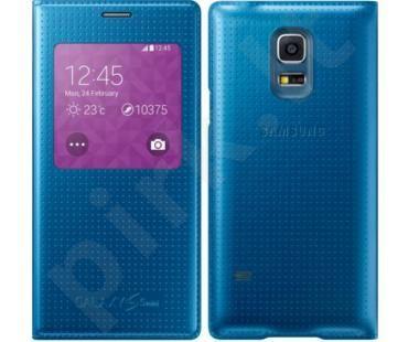 Samsung Galaxy S5 S view dėklas electric mėlynas