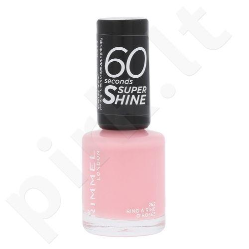 Rimmel London 60 Seconds, Super Shine, nagų lakas moterims, 8ml, (262 Ring A Ring O´Roses)