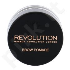 Makeup Revolution London Brow Pomade With Double Ended Brush, priemonė antakiams, kosmetika moterims, 2,5g, (Caramel Brown)