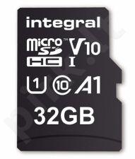 Integral 32GB MICRO SDHC 100V10, Read 100MB/s  U1 V10 + ADAPTER
