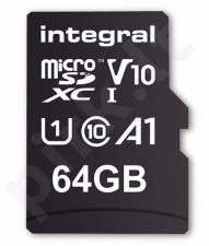 Integral 64GB MICRO SDXC 100V10, Read 100MB/s  U1 V10 + ADAPTER