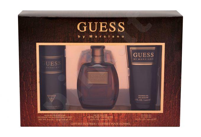 GUESS Guess by Marciano, rinkinys tualetinis vanduo vyrams, (EDT 100 ml + dušo želė 200 ml + dezodorantas 226 ml)