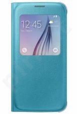 Samsung Galaxy S6 S View dėklas Odinis mėlynas