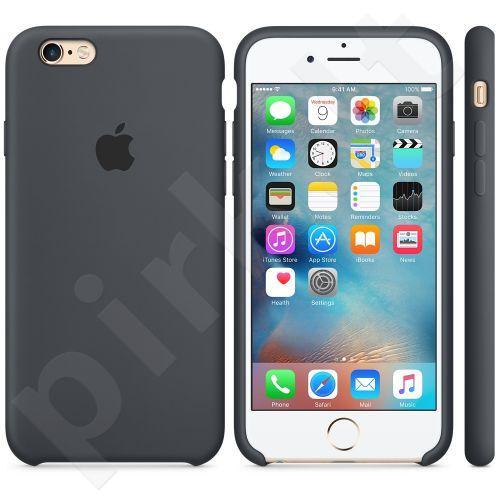 Apple iPhone 6/6S Silicone dėklas tamsiai pilkas