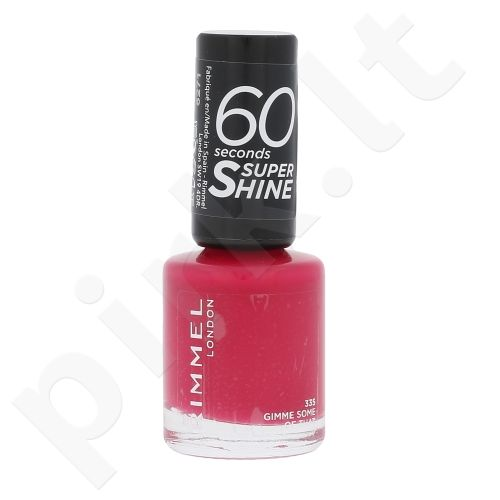 Rimmel London 60 Seconds, Super Shine, nagų lakas moterims, 8ml, (335 Gimme Some Of That)