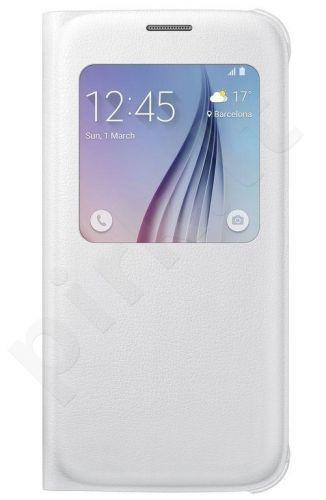Samsung Galaxy S6 S View dėklas Odinis baltas