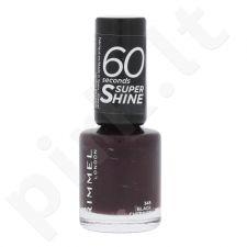 Rimmel London 60 Seconds, Super Shine, nagų lakas moterims, 8ml, (345 Black Cherries)