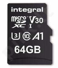 Integral 64GB MICRO SDXC 70V30, R:100MB/s W:70MB/s U3 V30 + ADAPTER