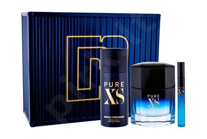 Paco Rabanne Pure XS, rinkinys tualetinis vanduo vyrams, (EDT 100 ml + dezodorantas 150 ml + EDT 10 ml)