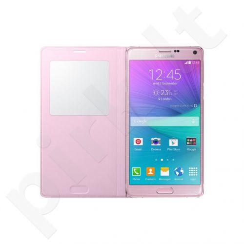 Samsung Galaxy Note 4 S view dėklas rožinis