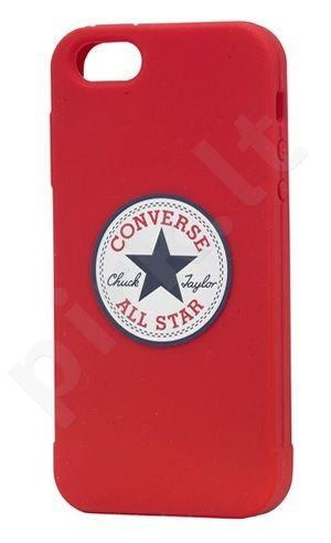 Apple iPhone 5 dėklas CONVERSE Ascendeo raudonas