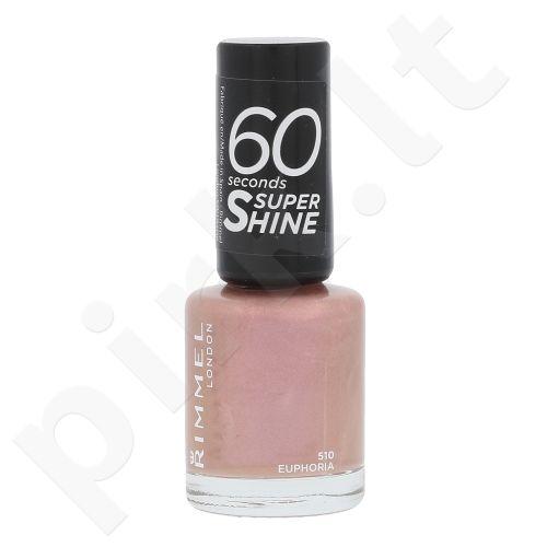 Rimmel London 60 Seconds, Super Shine, nagų lakas moterims, 8ml, (510 Euphoria)