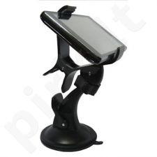 Automob. laikiklis Qoltec skirtas iPhone/Smartfon/GPS, prie stiklo
