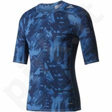 Marškinėliai kompresyjna Adidas Techfit Base Graphic Tee M BK1192