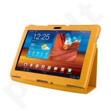 4World dėklas-stovas skirtas Galaxy Tab 10.1, plonas, oranžinis