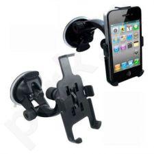 Reguliuojamas automob. laikiklis Qoltec skirtas iPhone 4, prie stiklo