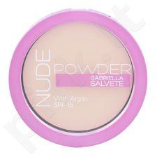 Gabriella Salvete Nude kompaktinė  pudra SPF15, kosmetika moterims, 8g, (01 Pure Nude)