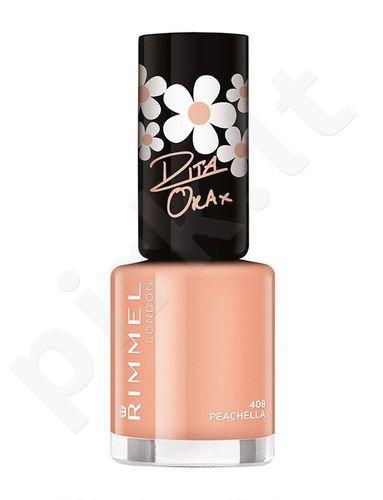 Rimmel London 60 Seconds nagų lakas By Rita Ora, kosmetika moterims, 8ml, (408 Peachella)