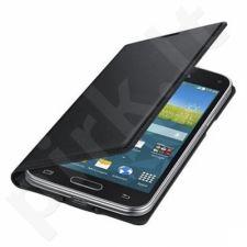 Samsung Galaxy S5 mini atverčiamas dėklas juodas