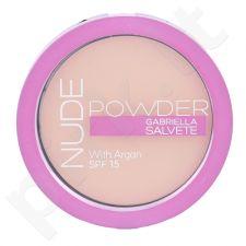 Gabriella Salvete Nude kompaktinė pudra SPF15, kosmetika moterims, 8g, (02 Light Nude)