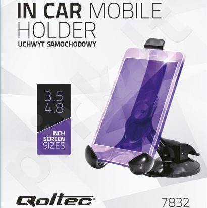 Qoltec Universal Adjustable car holder for smartfona 3.5- 4.8'' WindShield Mount