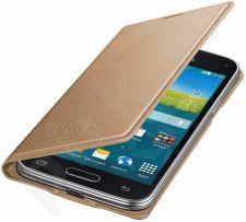 Samsung Galaxy S5 mini atverčiamas dėklas auksinis