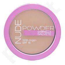 Gabriella Salvete Nude kompaktinė pudra SPF15, kosmetika moterims, 8g, (04 Nude Beige)