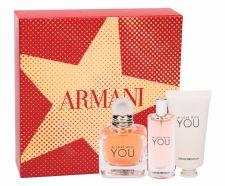 Giorgio Armani In Love With You, Emporio Armani, rinkinys kvapusis vanduo moterims, (EDP 50 ml + EDP 15 ml + rankų kremas 50 ml)