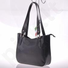 MADE IN ITALY Spalla 014 juoda  itališka rankinė iš natūralios odos