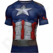 Marškinėliai kompresiniai Under Armour Alter Ego Captain America M 1273691-410