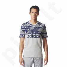 Marškinėliai adidas Sports Essentials Linear Camo Tee M BQ9597