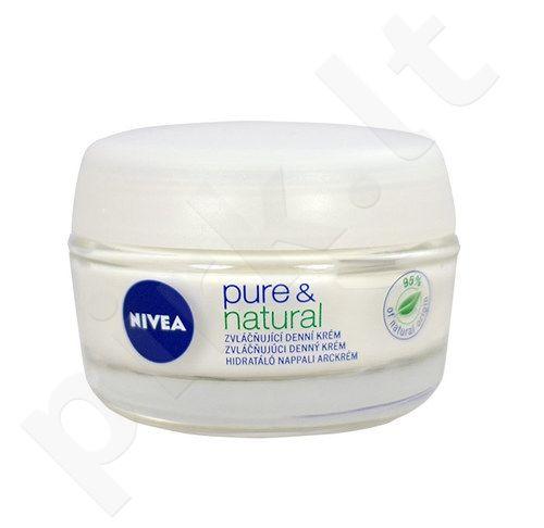 Nivea Pure & Natural Drėkinamasis Day Care, kosmetika moterims, 50ml
