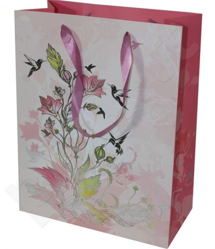 Dovanų maišelis Premium Humming Bird & Flower Large 95024