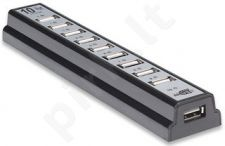 Manhattan USB šakotuvas 2.0 10 Portai, šaltinis AC