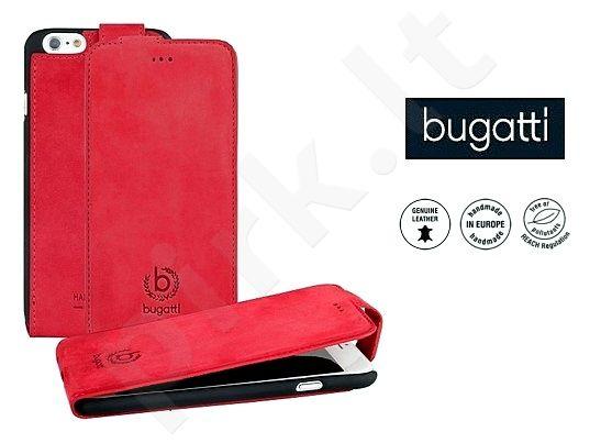 Apple iPhone 6/6S atverčiamas dėklas MADRID Bugatti raudonas