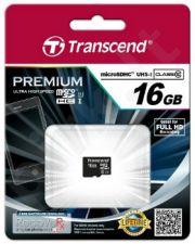 Atminties kortelė Transcend microSDHC 16GB CL10 UHS1